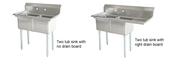 Stainless Steel Double Tub Pot Sinks