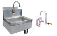 Stainless Steel Sink with Knee Valves