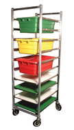 6 Tier SS Universal Meat Tub or Deli Tray Dolly